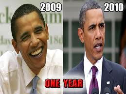 OBAMA AGING IN OFFICE